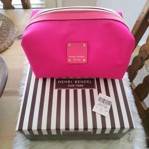 NWT Henri Bendel Jetsetter Med Dopp Kit Neon Pink